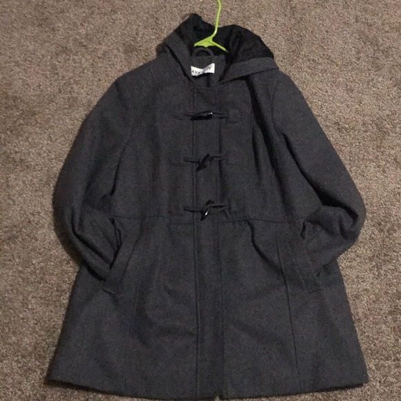 Ava Viv wool coat/Jacket with hoddie plus size
